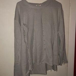 Distressed tan sweater